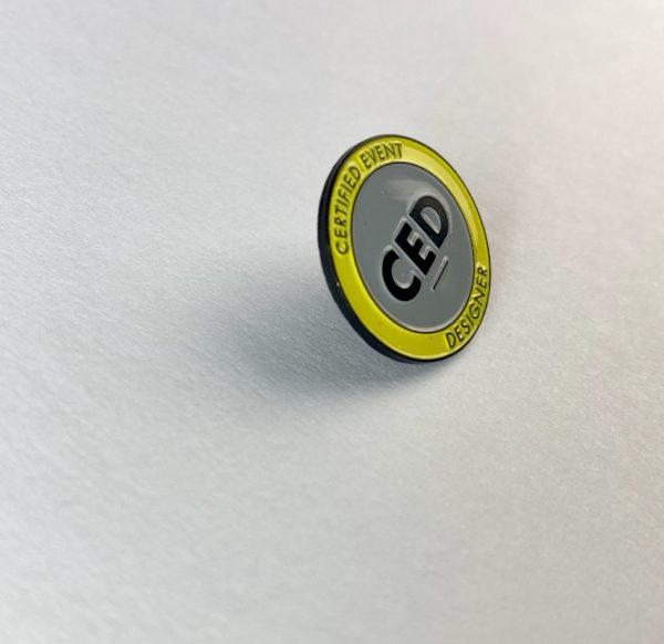 CED lapel pin
